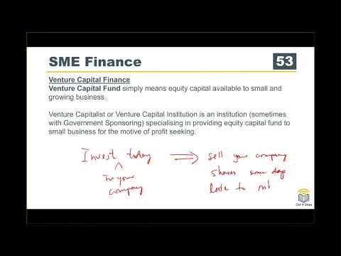 ACCA F9 Course Business Finance 12 SME Financing