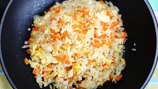 Garlic Carrot Egg Fried Rice : Thai Food Part 63 : Fried Rice Recipe