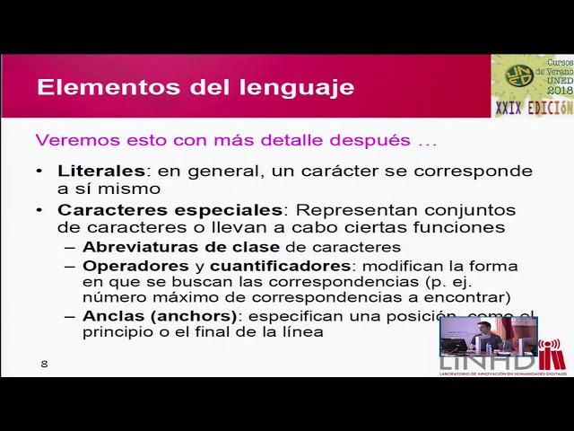 Expresiones regulares: un medio para la exploración, análisis y manipulación del texto