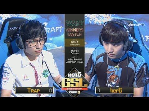 [2017 GSL Season 3]Code S Ro.32 Group F Match3 herO vs Trap