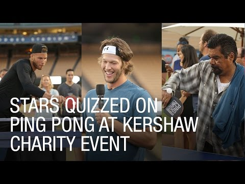 Stars Quizzed on Ping Pong at Kershaw Charity Event