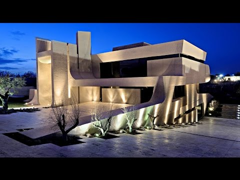 Stunning Modern Contemporary Concrete Residence in Pozuelo de Alarcón, Madrid, Spain (by A-cero)
