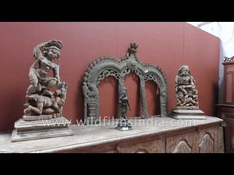 Antique furniture for sale at Jew Town in Kochi, Kerala