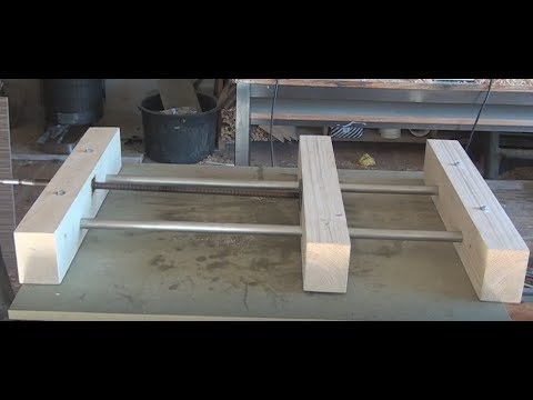 Easy Clamping Jig for Cutting Boards. Wooden Vise