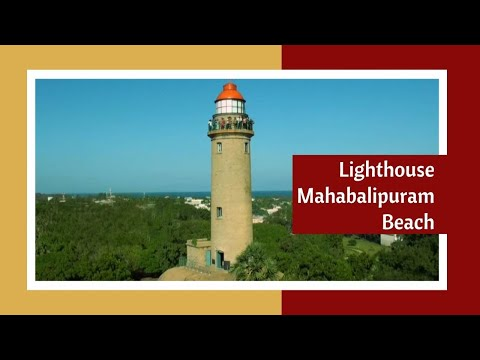 Lighthouse in Mahabalipuram Beach