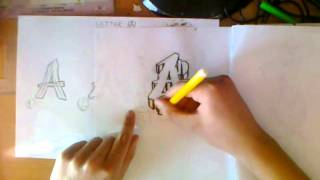 Graffiti Alphabet Tutorial: How to draw letter A