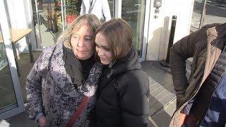 Lily Rose Depp and Laetitia Casta at RTL Radio Station