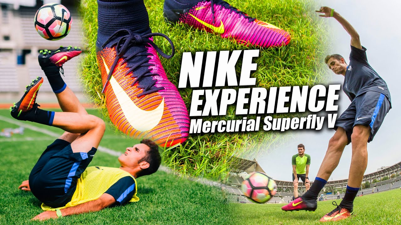 buy online b41e4 77b3c Nike Experience en París - Nike Mercurial Superfly V Test EURO 2016 -  YouTube