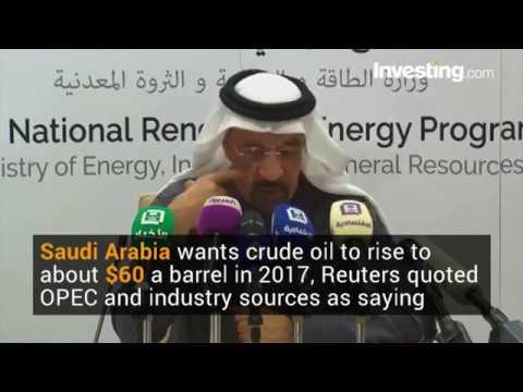 OPEC Sources Say Saudi Arabia Targets Oil Price Of $60/Barrel In 2017