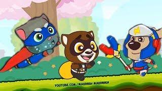 ГОВОРЯЩИЙ ТОМ БЕГ ЗА СЛАДОСТЯМИ #12 ДРУЗЬЯ Анджела Бен - игровой мультик для детей Tom Candy Run