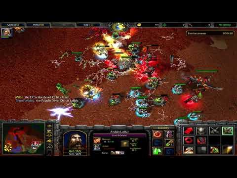 Warcraft 3 - Assault On Blackrock Spire - Anduin Lothar Vs Ogrim Doomhamer
