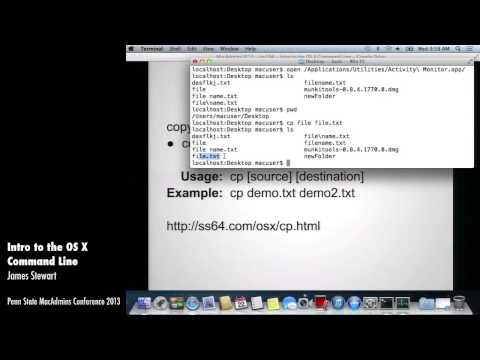 Intro to the OS X Command Line - James Stewart