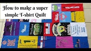 How to make a T shirt Quilt