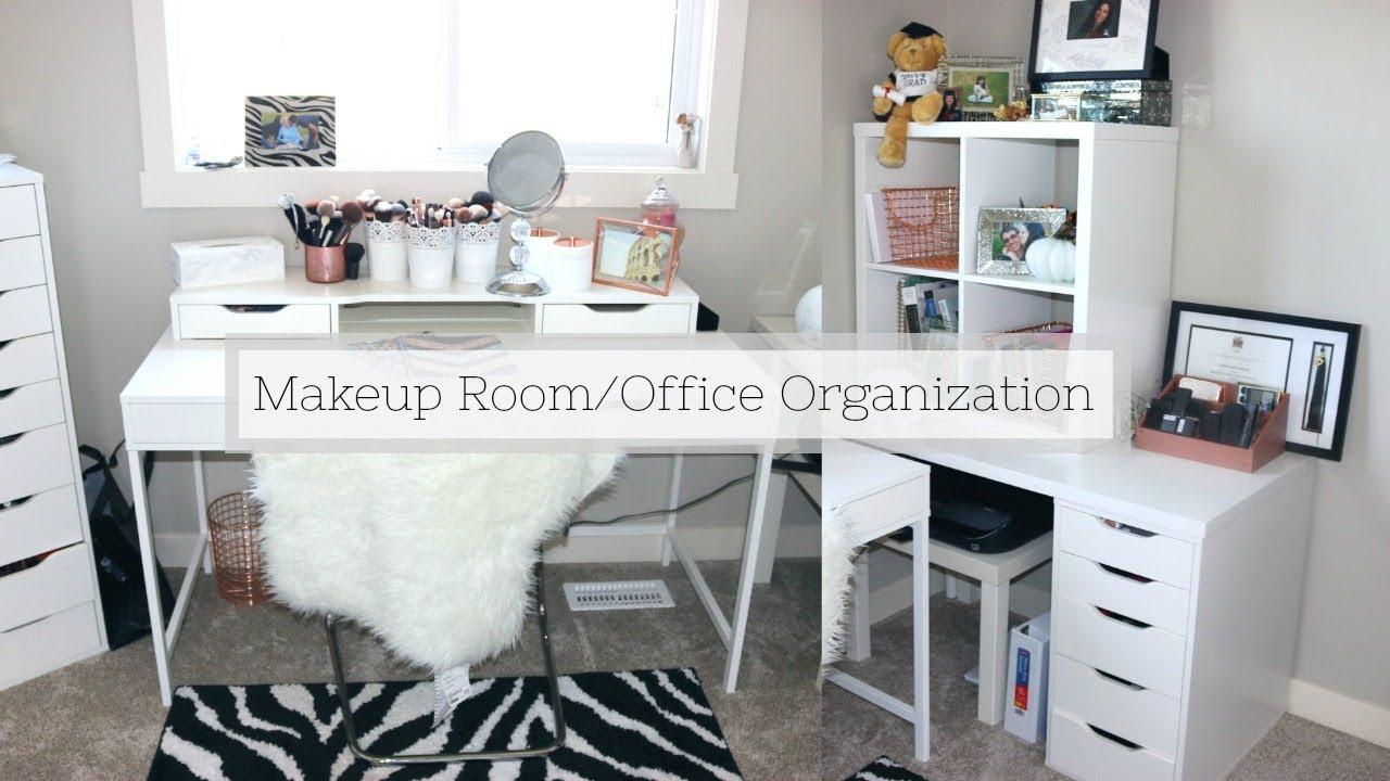 ORGANIZING MY BEAUTY ROOM/OFFICE  Sheena Kozak - YouTube