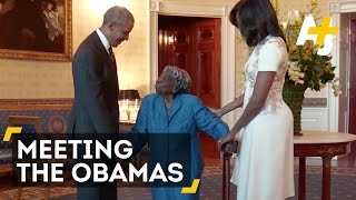106-Year-Old Woman Meets President Obama