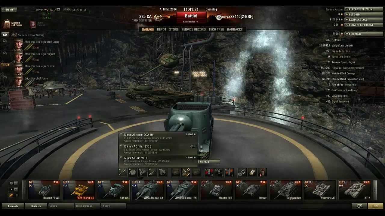 World of tank fran 231 ais vid 233 o de pr 233 sentation g 233 n 233 ral des td youtube