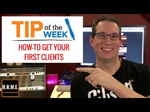 Music Business - Tip # 5 How to Get My First Clients
