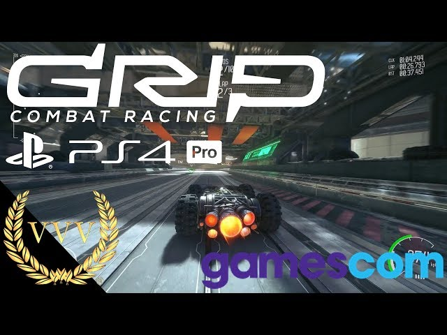 Grip Combat Racing - PS4 Pro Dev Progress, Gamescom 2018