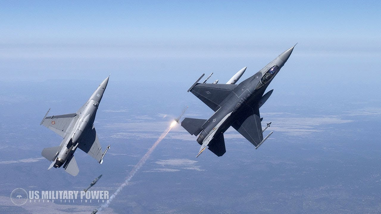 Awesome Footage of USAF F-16 Jets Taking off