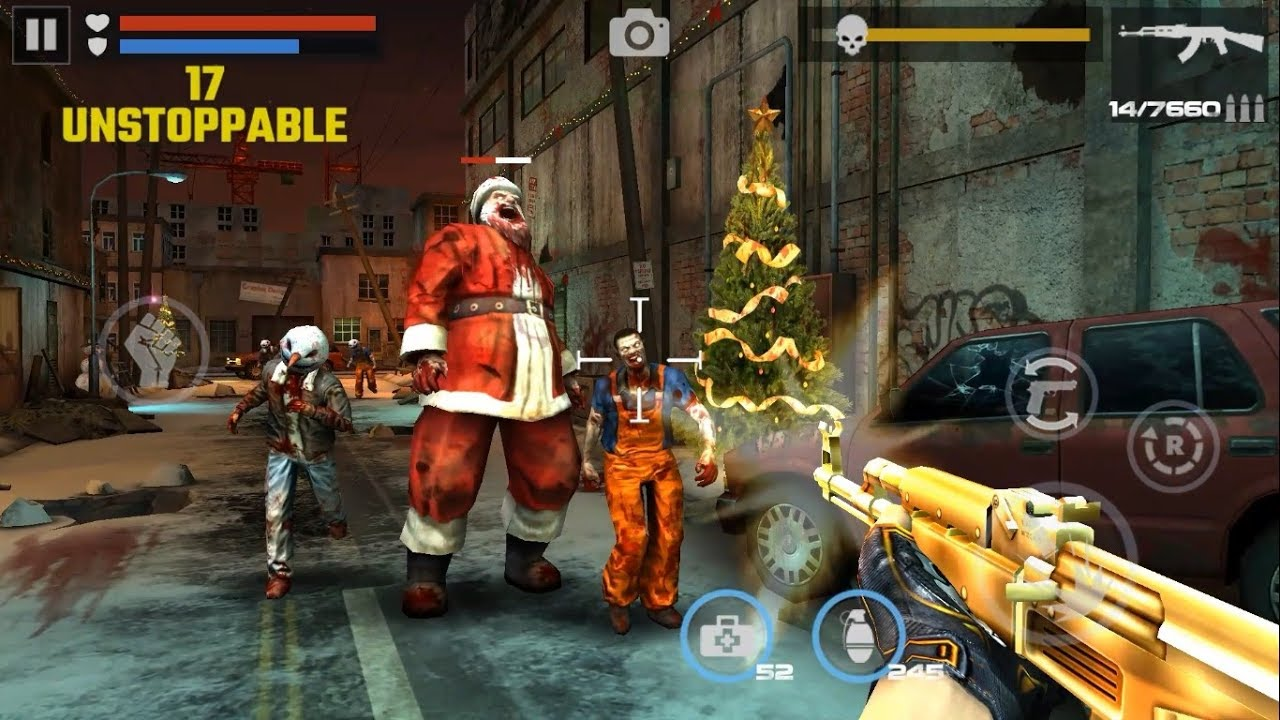 Christmas Zombie Santa.Dead Target Zombie Christmas Update Christmas Event Santa Claus Mission Android Gameplay
