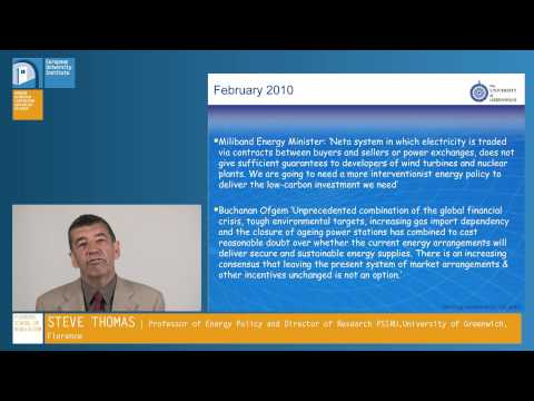 Case Example on Energy Markets: the UK Power Market by Steve Thomas