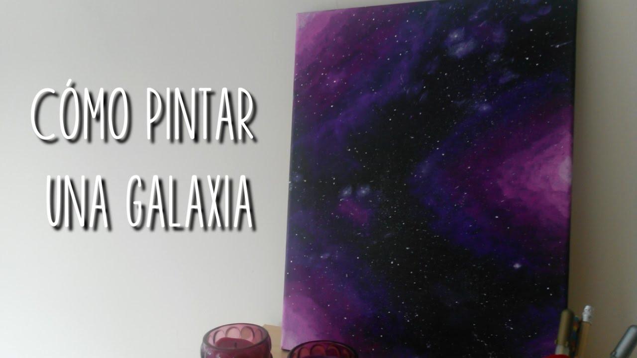 C mo pintar una galaxia doitmery youtube - Como pintar una pared ya pintada ...