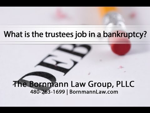 What is the trustees job in a bankruptcy?