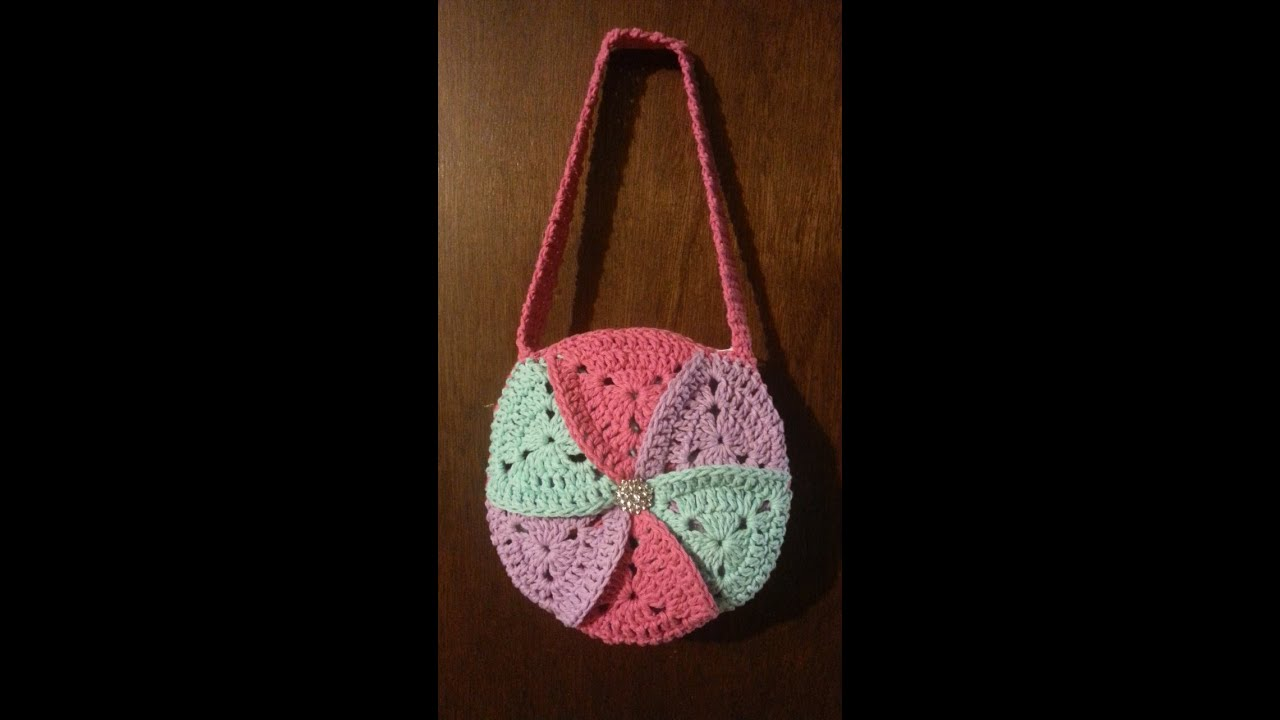 How To Crochet A Handbag : CROCHET How to #Crochet bag Granny Triangle #Pinwheel Crochet #Purse ...