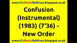 Confusion (Instrumental) - New Order | 80s Dance Music | 80s Club Music | 80s Electro Funk