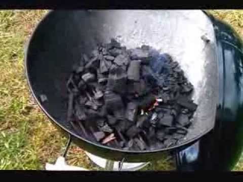 How do you start a charcoal grill?