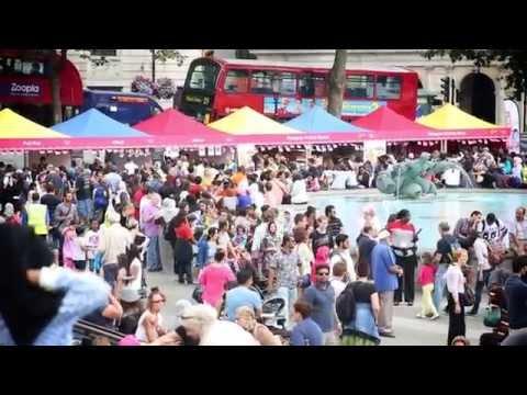 Eid Festival at Trafalgar Square London 2014