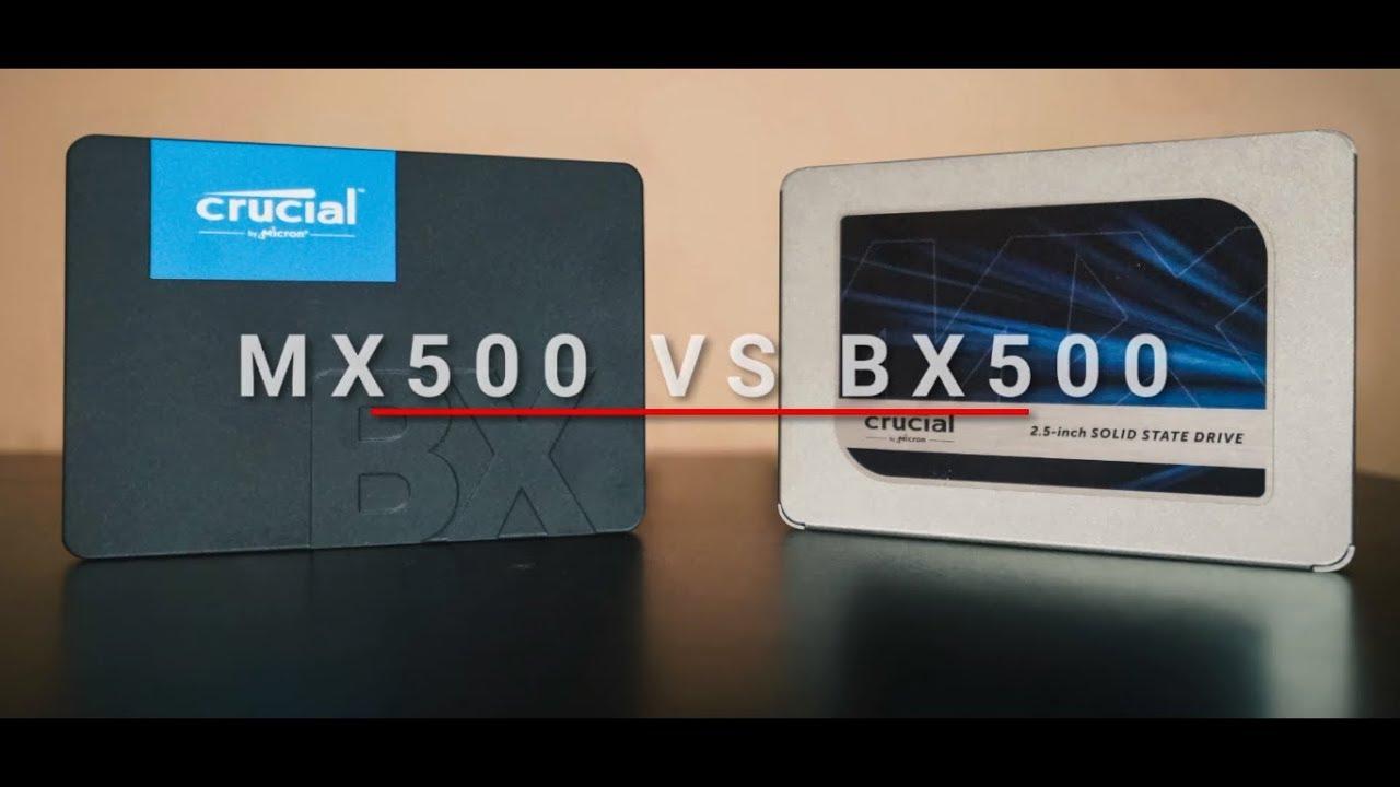Crucial MX500 SSD vs Crucial BX500 SSD