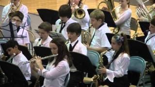 "Hogan in 6th grade band playing ""Rock and Roll Part II"""