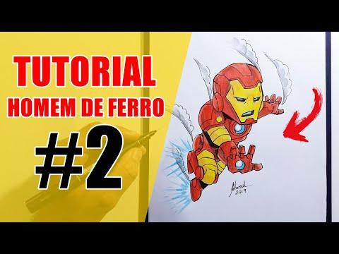 Como Colorir O Homem De Ferro Cartoon Vingadores Ultimato