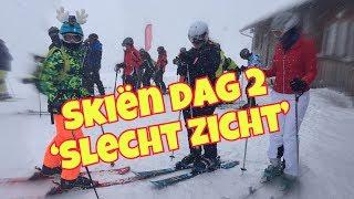 Skiën in Schruns Oostenrijk dag 2; Skiing in Schruns Austria day 2