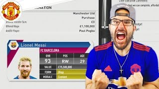 OMG MESSI ACCEPTS! *NOT CLICKBAIT* Manchester United FIFA 17 Career Mode #12