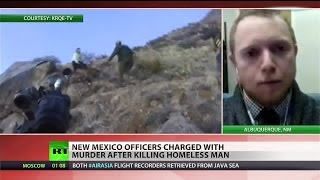 New Mexico police charged with murdering homeless man