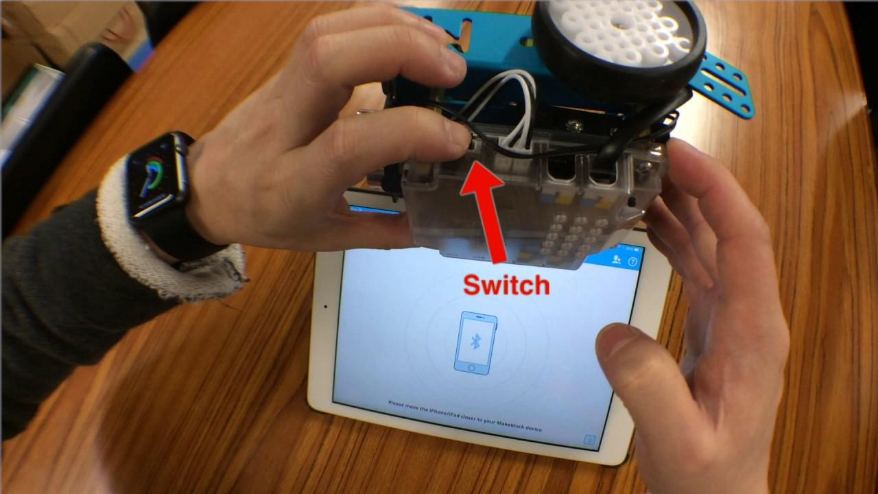 mBot 1 - Connect using iPad Makeblock app