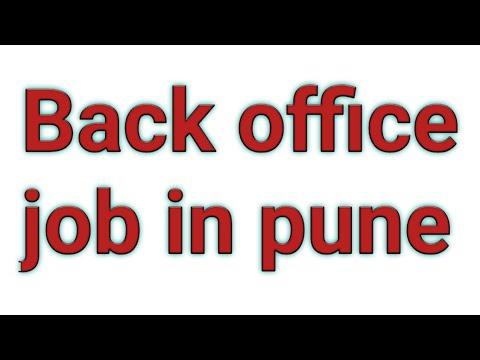 Back Office Job In Pune