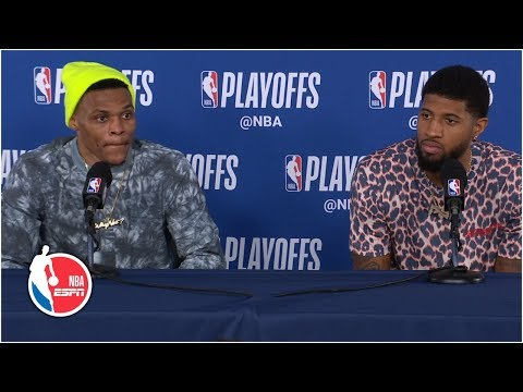 Russell Westbrook, Paul George not feeling questions after Game 3 | 2019 NBA Playoffs