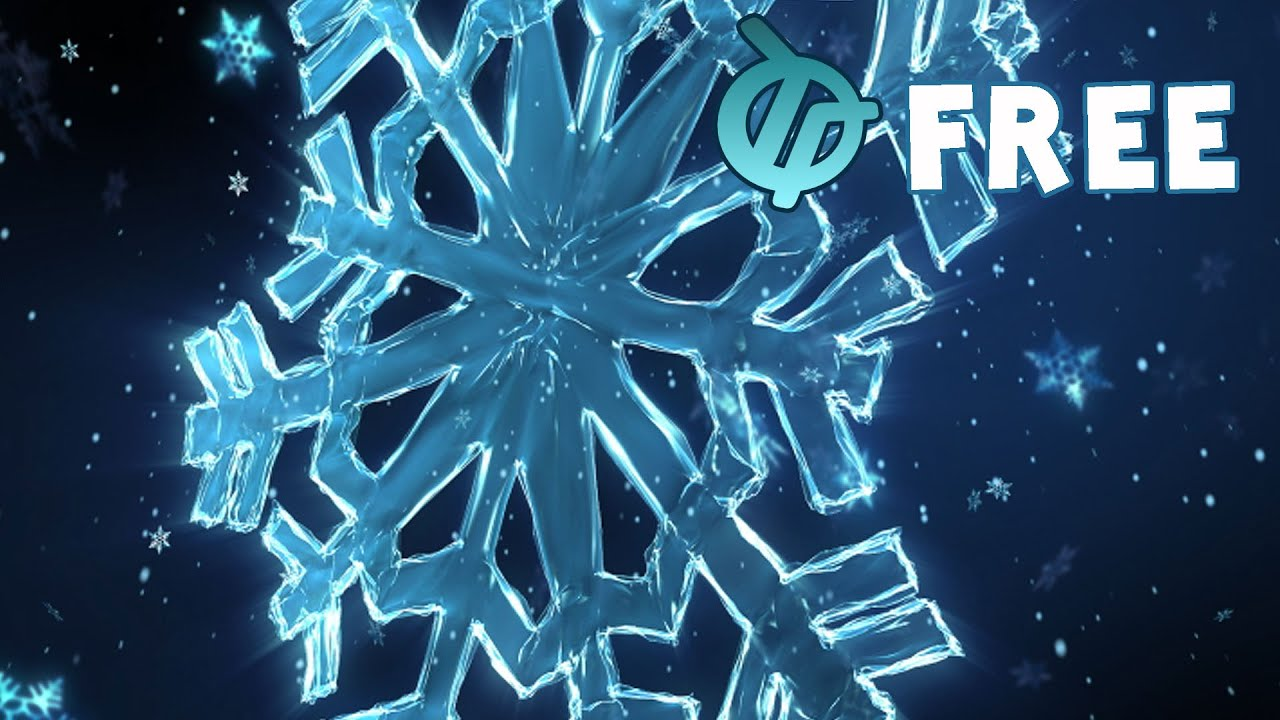 free snow flake animation youtube