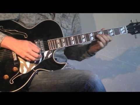 Ronny Jordan - After Hours - cover on Henri Oiseau ES176guitar