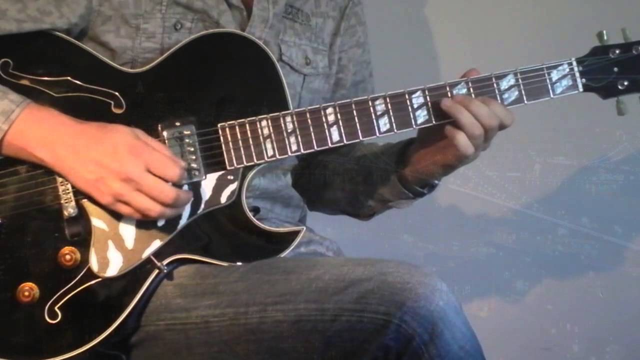 Ronny Jordan After Hours Cover On Henri Oiseau Es176 Guitar