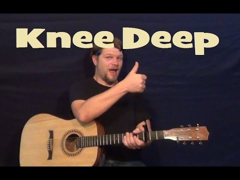Knee Deep (ZAC BROWN BAND/JIMMY BUFFETT) Guitar Lesson Easy Strum Chords How to Play