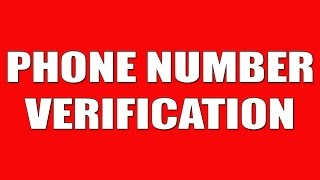 MOBILE NUMBER VERIFICATION [Google,Facebook,YT,Twitter,etc]