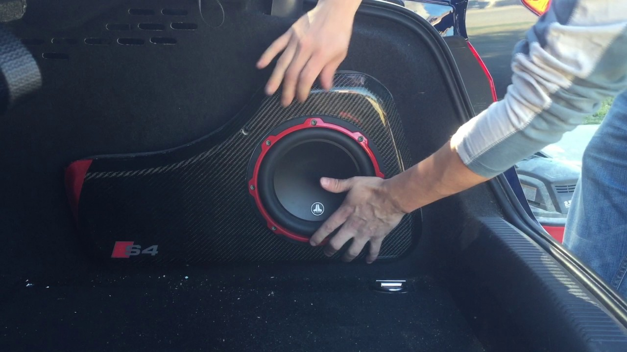 maxresdefault audi b8 a4 s4 2009 2016 subwoofer install youtube  at soozxer.org