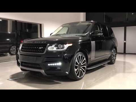 Black Land Rover Range Rover Vogue L405 2017 Facelift Body