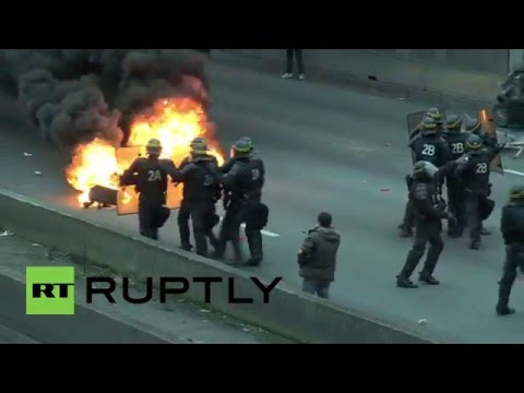 France: At least 20 arrested at fiery anti-Uber protest in Paris