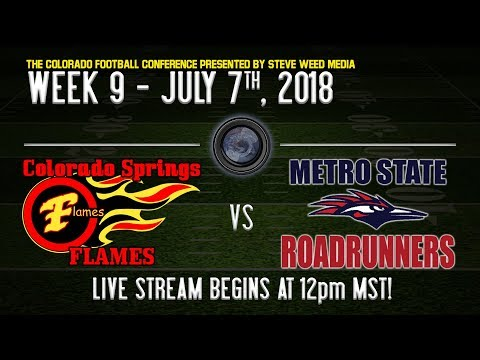 WEEK 9: Colorado Springs Flames vs Metro Roadrunners: The Colorado Football Conference - Powered ...