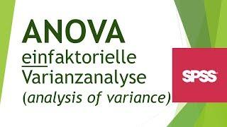 ANOVA (einfaktorielle Varianzanalyse) in SPSS durchführen - Daten analyisieren in SPS (10)